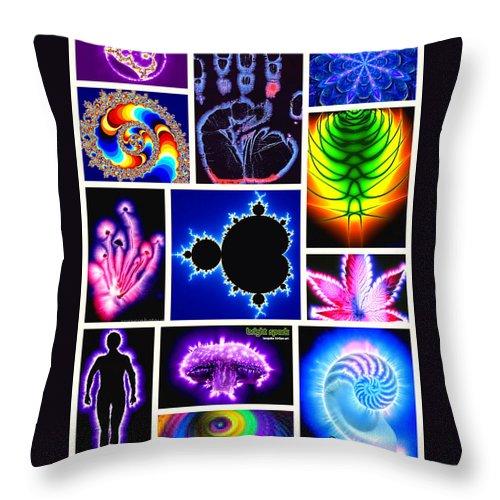 Digital Art Throw Pillow featuring the digital art Auras by Karen Buford