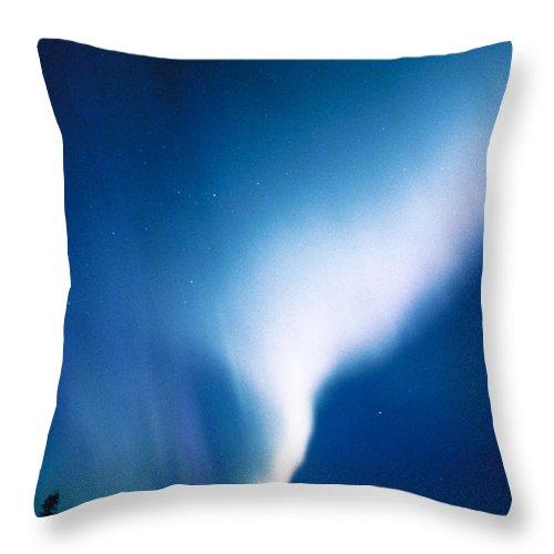 Aurora Borealis Throw Pillow featuring the photograph Aurora Borealis by Michael Giannechini