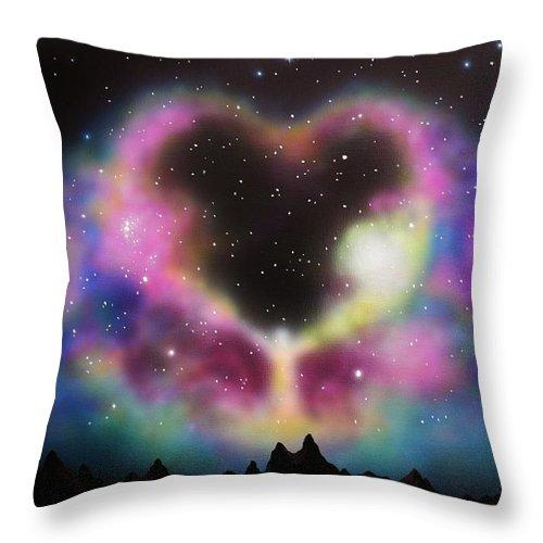 Aurora Borealis Throw Pillow featuring the painting Aurora Borealis The Blessing by Thomas Kolendra