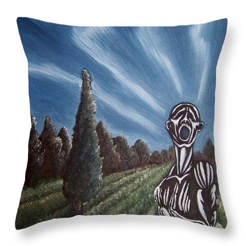 Tmad Throw Pillow featuring the painting Aurora by Michael TMAD Finney