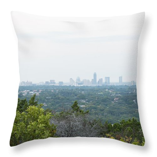 Texas Throw Pillow featuring the photograph Austin Horizon by JG Thompson