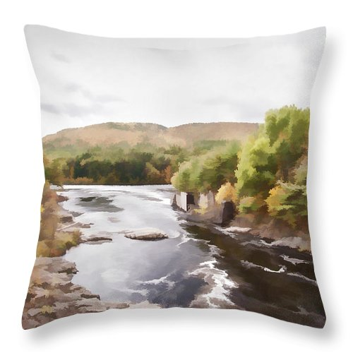 Fall Throw Pillow featuring the photograph Autumn At Luzerne Gorge by Ray Summers Photography
