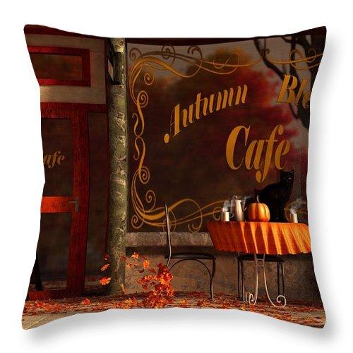 Autumn Blend Throw Pillow featuring the digital art Autumn Blend by Daniel Eskridge