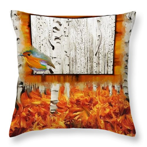 Autumn Throw Pillow featuring the painting Autumn Gallery by Luana-Beatrice Lazar