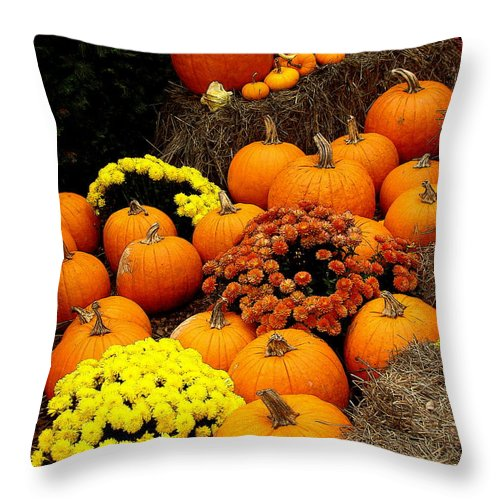 Fine Art Throw Pillow featuring the photograph Autumn Harvest 6 by Rodney Lee Williams