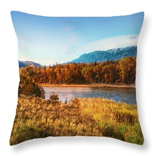 Montana Throw Pillow featuring the photograph Autumn In Montana by Thomas Woolworth