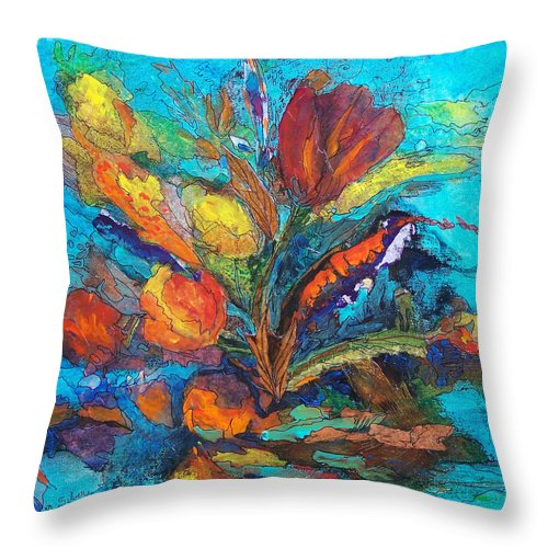In Focus Throw Pillow featuring the mixed media Autumn In Oklahoma by Mtnwoman Silver