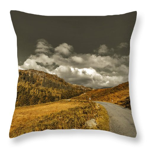 Cumbrian Canvas Throw Pillow featuring the photograph Autumn In The Valley by Trevor Kersley