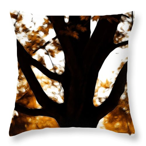 Tree Throw Pillow featuring the photograph Autumn Is Here by Sotiris Filippou