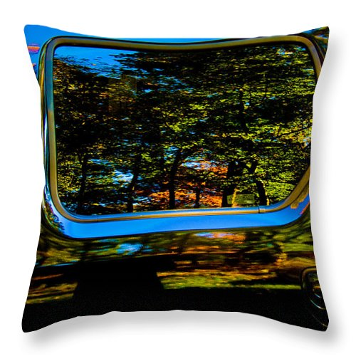 Abstract Throw Pillow featuring the photograph Autumn Reflections 02 by Andy Lawless