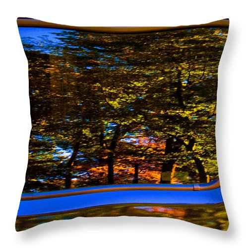 Abstract; Autumn; Fall Colors; Red; Reflection; Yellow; South Carolina Throw Pillow featuring the photograph Autumn Reflections by Andy Lawless