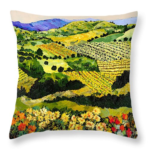 Landscape Throw Pillow featuring the painting Autumn Remembered by Allan P Friedlander