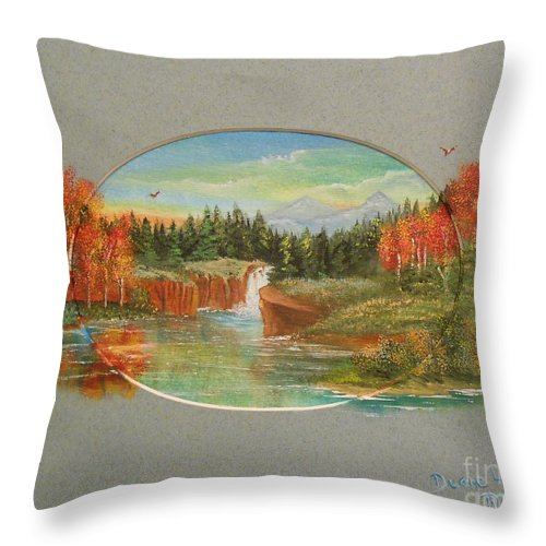 Autumn Throw Pillow featuring the painting Autumn Reverence by Duane West