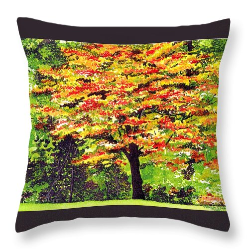 Fine Art Throw Pillow featuring the painting Autumn Splendor by Patricia Griffin Brett