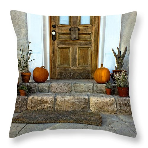Cactus Throw Pillow featuring the photograph Autumn Time by Lucinda Walter