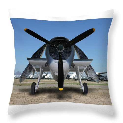 The 1943 Navy Tbf Avenger Was Designed And Built Initially By The Grumman Company And Designated Tbf Throw Pillow featuring the photograph Abstract Avenger T B M Moffett Field by Jack Pumphrey