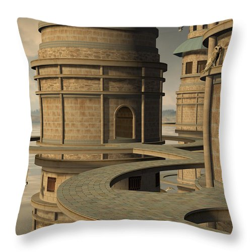 Owl Throw Pillow featuring the digital art Aviary by Cynthia Decker