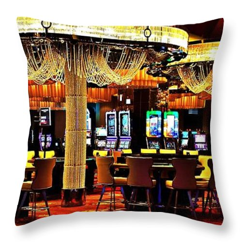 Casino Throw Pillow featuring the photograph Awaiting Action by Benjamin Yeager