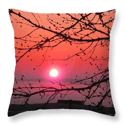 Awaken The Dawn Throw Pillow featuring the digital art Awaken The Dawn by Christine Nichols