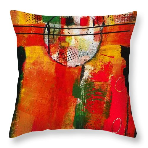 Abstract Expressionism Throw Pillow featuring the painting Awaken The Dawn by Donna Frost