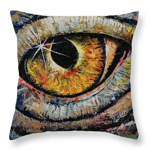 Sun Throw Pillow featuring the painting Awakened Dragon by Michael Creese