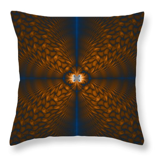 Fractal Throw Pillow featuring the digital art Awakening by Joseph Pugliese