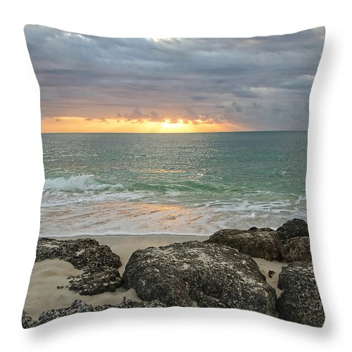 Beach Throw Pillow featuring the photograph Awakenings by Donna Doherty