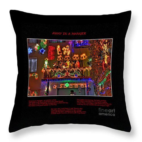 Photography Throw Pillow featuring the photograph Away In A Manger by Kaye Menner