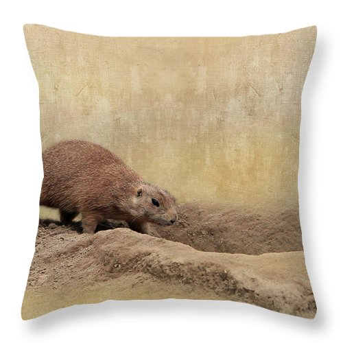Animal Throw Pillow featuring the photograph Away Quickly by Heike Hultsch