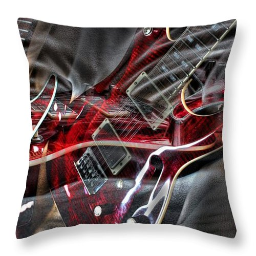 Acoustic Throw Pillow featuring the photograph Awsome Pairing By Steven Langston by Steven Lebron Langston