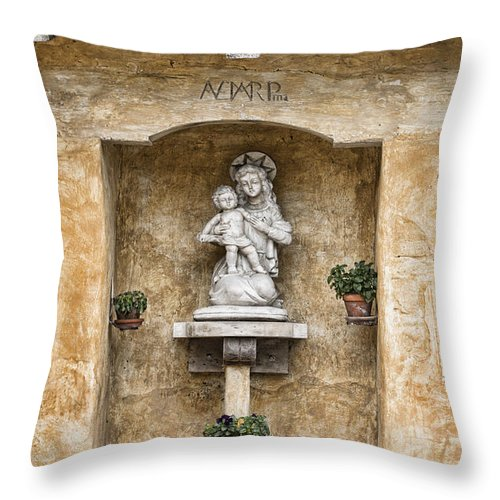 Statue Throw Pillow featuring the photograph Baby Jesus by Diego Re