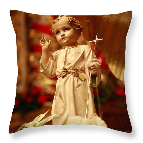 God Throw Pillow featuring the photograph Baby Jesus by Gaspar Avila