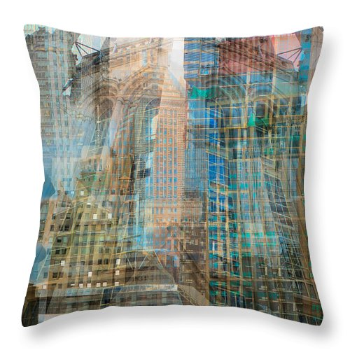 Kevin Eatinger Throw Pillow featuring the photograph Babylon Proportion 1 by Kevin Eatinger