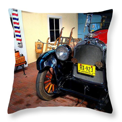 Fine Art Throw Pillow featuring the photograph Back Then by Rodney Lee Williams