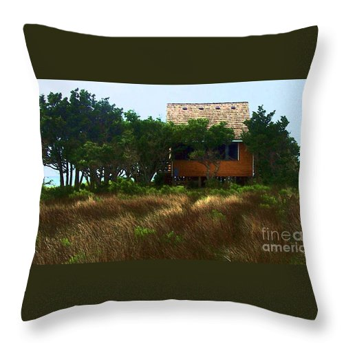 Beach Throw Pillow featuring the photograph Back To The Island by Debbi Granruth