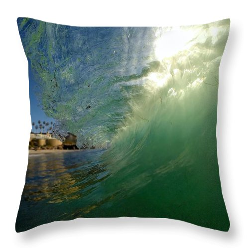 Wave Throw Pillow featuring the photograph Backlit Gem by James Felix