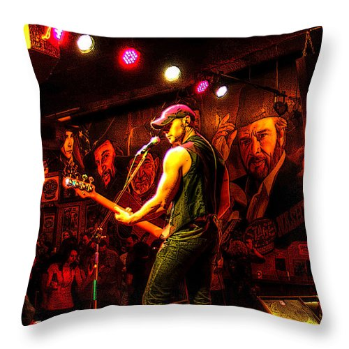 Nashville Throw Pillow featuring the photograph Backup Singers by CK Caldwell