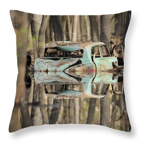 Throw Pillow featuring the photograph Backwater Byway by Primal Traces
