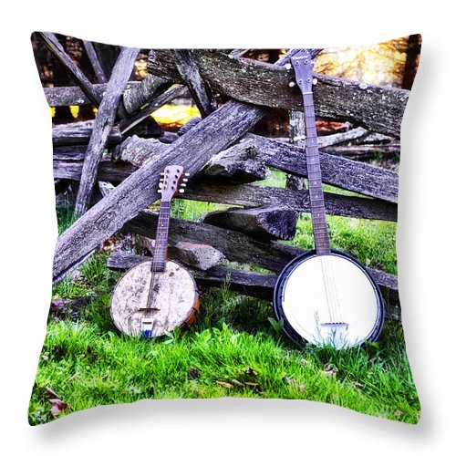 Backwoods Throw Pillow featuring the photograph Backwoods Music by Bill Cannon