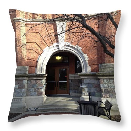 Red Brick Throw Pillow featuring the photograph Bacteriology by Joseph Yarbrough