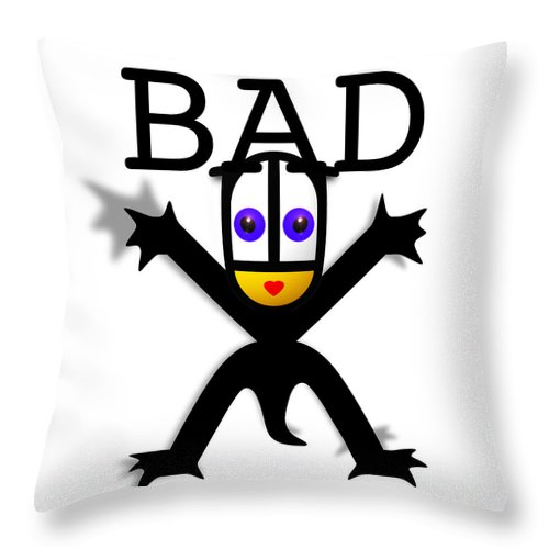 Bad Babe Throw Pillow featuring the digital art Bad Babe by Charles Stuart