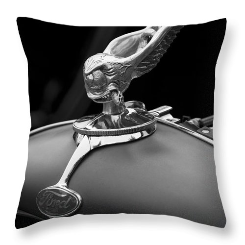 Hood Ornament Throw Pillow featuring the photograph Bad Cigar by Chris Dutton