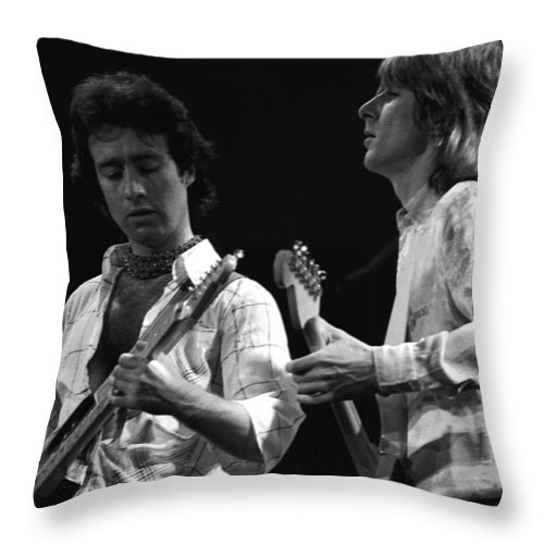 Paul Rodgers Throw Pillow featuring the photograph Bad Company At Work In 1977 by Ben Upham