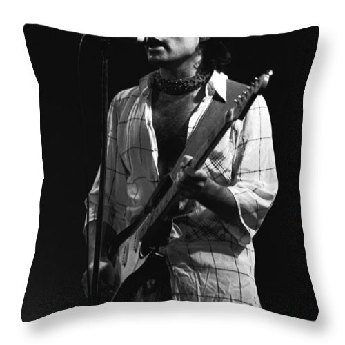 Paul Rodgers Throw Pillow featuring the photograph Bad Company Smokes Spokane 1977 by Ben Upham