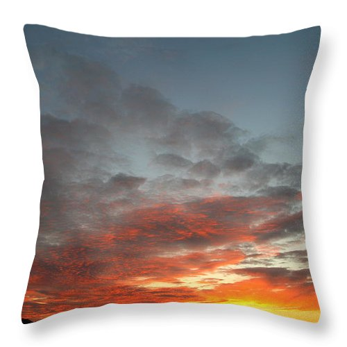 Sunset Art Throw Pillow featuring the photograph Bafflin Sanctuary Light by Neal Eslinger