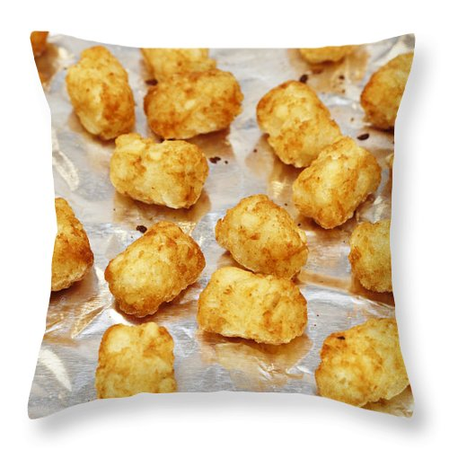 Baked Throw Pillow featuring the photograph Baked Potato Treats by Lee Serenethos