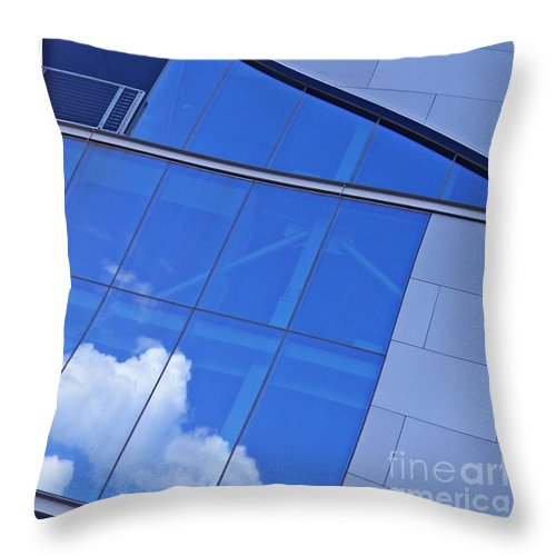 Building Throw Pillow featuring the photograph Baker Athletics Complex by Sarah Loft