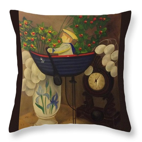 Oil Painting Throw Pillow featuring the painting Balance Of Time by Tammy Powell
