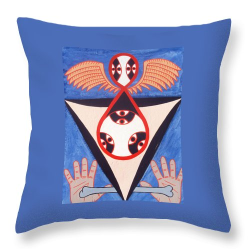 Balance Throw Pillow featuring the painting Balance by Shawn Jones