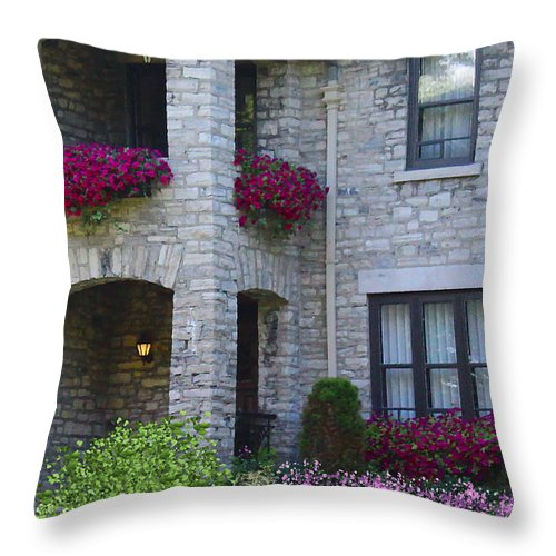 Patios Throw Pillow featuring the photograph Balcony 2 by Kume Bryant
